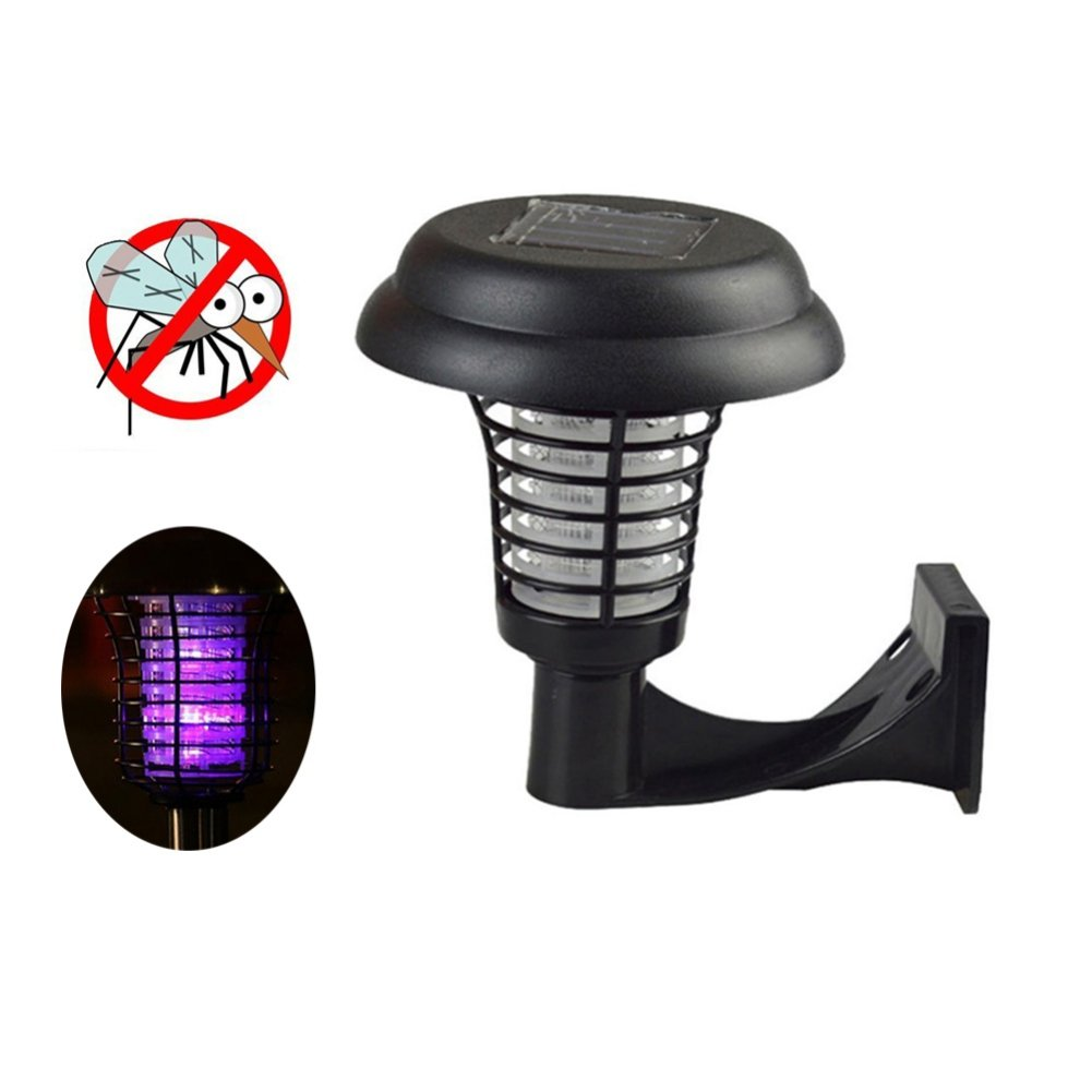 Zhengpin Solar Mosquito Light, LED Power Mosquito Repellent Bug Zapper Killer UV Lamp Insect Pest Outdoor Garden Lawn Landscape Light for Residential, Commercial and Industrial Use (Wall mount)
