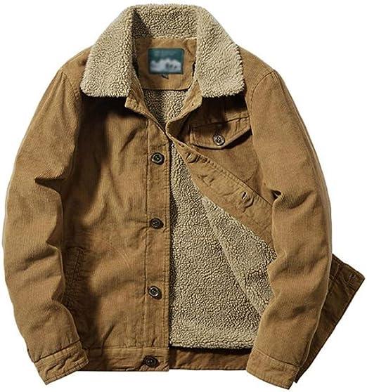 メンズコーデュロイトラック運転手のジャケットカジュアルなスタンドカラーケリウールデニムジャケット