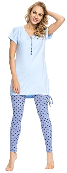 dn-nightwear – Pijama de lactancia para mujer PM.9007 ...