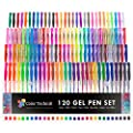120 Gel Pens by Color Technik INDIVIDUALLY UNIQUE Best Colors On AMAZON, Glitter, Metallic, Neon Glitter, Special, Neon, Swirl Milky & Classics. Now With More Ink! Enhance Your Adult Coloring Book Now