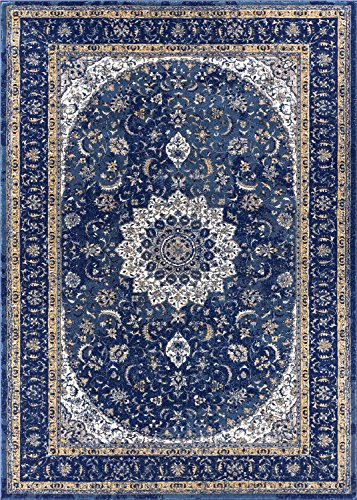 Blue persian rug for Blue and white carpet