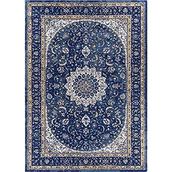 Amazon Com Djemila Medallion Blue Vintage Persian Floral