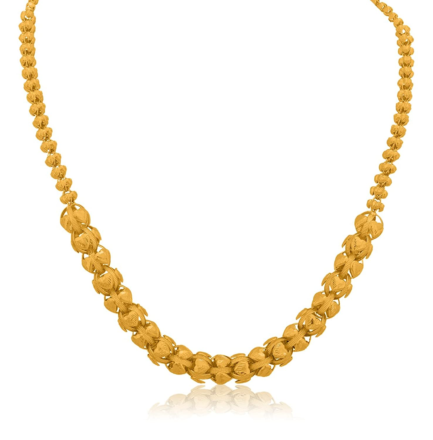 Buy Senco Gold 22k (916) Yellow Gold Chain Necklace Online at Low ...