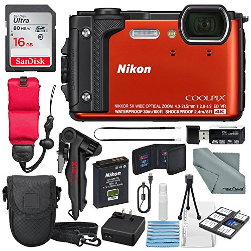Nikon COOLPIX W300 Digital Camera  w/ WiFi and Adventure Bun