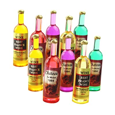 SUPVOX 12pcs 1:12 Miniature Wine Bottles Dollhouse Kitchen Table Decorations for Dollhouse Accessories Miniature Decoration Furniture Kids Play Toy Gift Style 2: Home & Kitchen