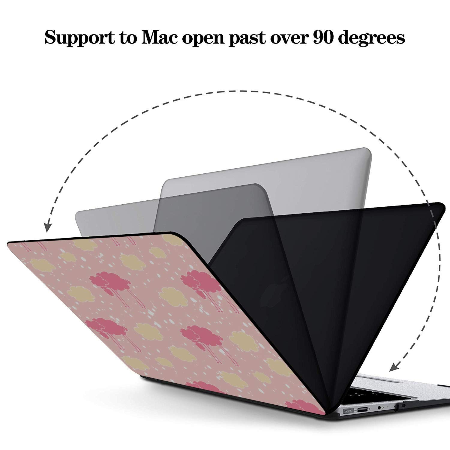Cover for MacBook Air Sheep Retro Wild Animal Naturel Plastic Hard Shell Compatible Mac Air 11 Pro 13 15 MacBook Accessories 13 Inch Protection for MacBook 2016-2019 Version