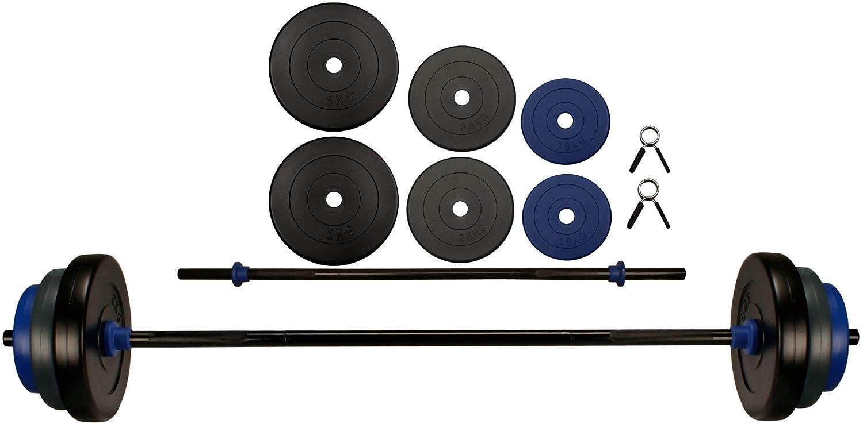 Avento Unisex 41hb Fitness Pump Set 20 kg in Karton, schwarz grau Kobalt blau, One Größe