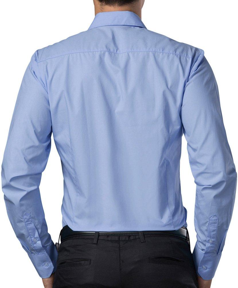 Paul Jones®Men's Shirt Formal Casual Shirt for Men Button Down (M) CL1044-5 Light Blue by Paul Jones®Men's Shirt (Image #2)