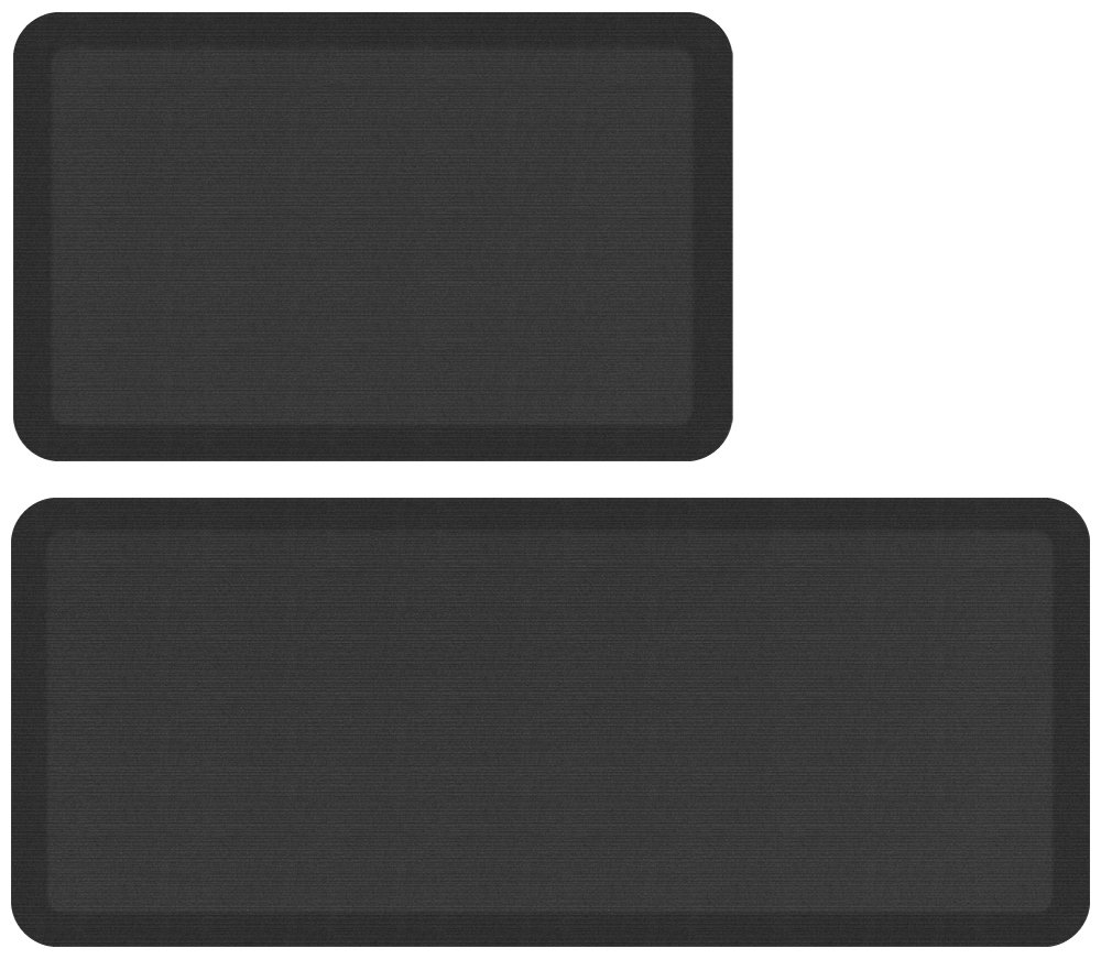 NewLife by GelPro Designer Comfort Mat Bundle - Buy More Save More!, 20 x 32 and 20 x 48, Charcoal 816825016085