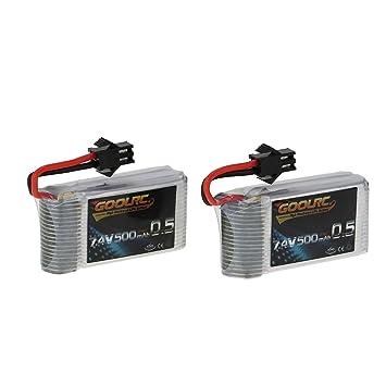 GoolRC Batería Litio 7.4V 500mAh 25C para JRC H8C H8D DFD F183 ...