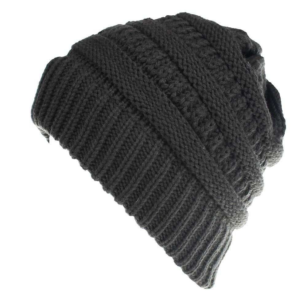 Yvelands Herren Damen Baggy Warm Crochet Winter Wool Knit Ski Beanie Skull Slouchy Caps
