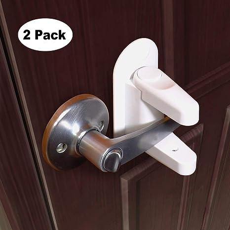Pomo de seguridad para puerta de bebé, 3 m, adhesivo, 2 unidades,