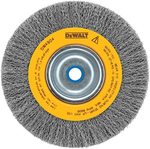 B00004YMDJ DEWALT Wire Wheel for Bench Grinder, Crimped, 6-Inch (DW4905) 61rB18RTicL
