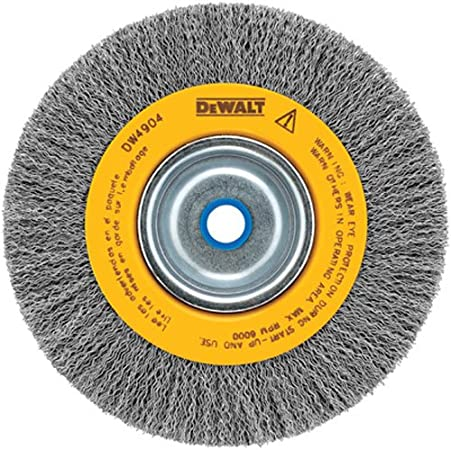 """PACK OF 2 8/"""" Inch Crimped Wire Wheel for Bench Grinder 2/"""" or 5//8/"""" Arbor 1//2/"""""""