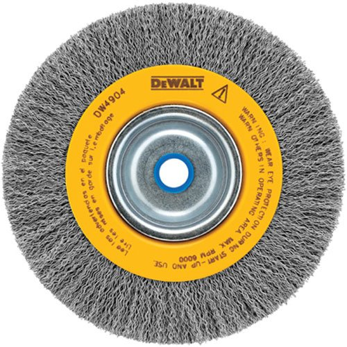DEWALT Wire Wheel for Bench Grinder, Crimped, 6-Inch (DW4905)