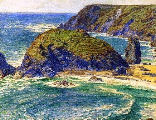 (William Holman Hunt Asparagus Island, Kynance, Cornwall (also known as Asparagus Island, near Lizard Point) - 21.05