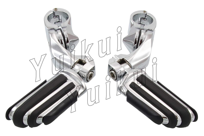 YUIKUI RACING オートバイ汎用 1-1/4インチ/32mmエンジンガードのパイプ径に対応 ハイウェイフットペグ タンデムペグ ステップ HONDA SHADOW VT 700 All years等適用   B07PZ6XFNK