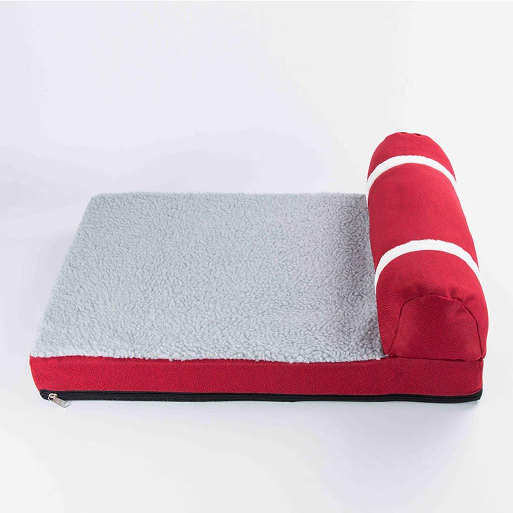 D 604515cm D 604515cm golden Retriever Kennel Winter Warm Pet Dog Bed Large Medium Dog Washable Mat Winter Supplies-60  45  15cm