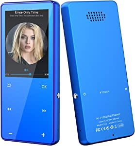 32GB MP3 MP4 Player with Bluetooth 5.0, High Resolution and Full Touch Screen, Built-in Speaker, Portable HiFi Lossless Sound 2.4
