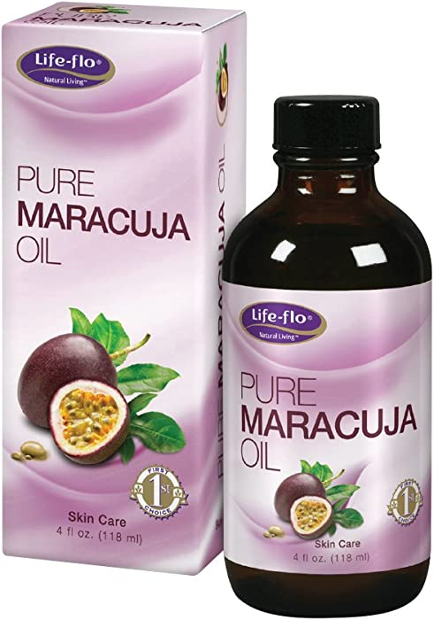 Life-Flo Pure Maracuja Oil (Passion Fruit Seed Oil) | Natural Moisturizer w/Vitamins, Minerals & EFAs for Hair, Face, Skin, Nails & Body | 4 fl oz.