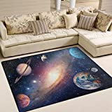 ALAZA Universe Star Planet Space Area Rug Rugs for Living Room Bedroom 5'3 x 4'