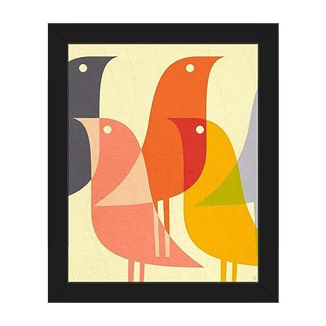Amazon.com: Retro Bird Caravan Orange: Mid-Century Retro Modern ...