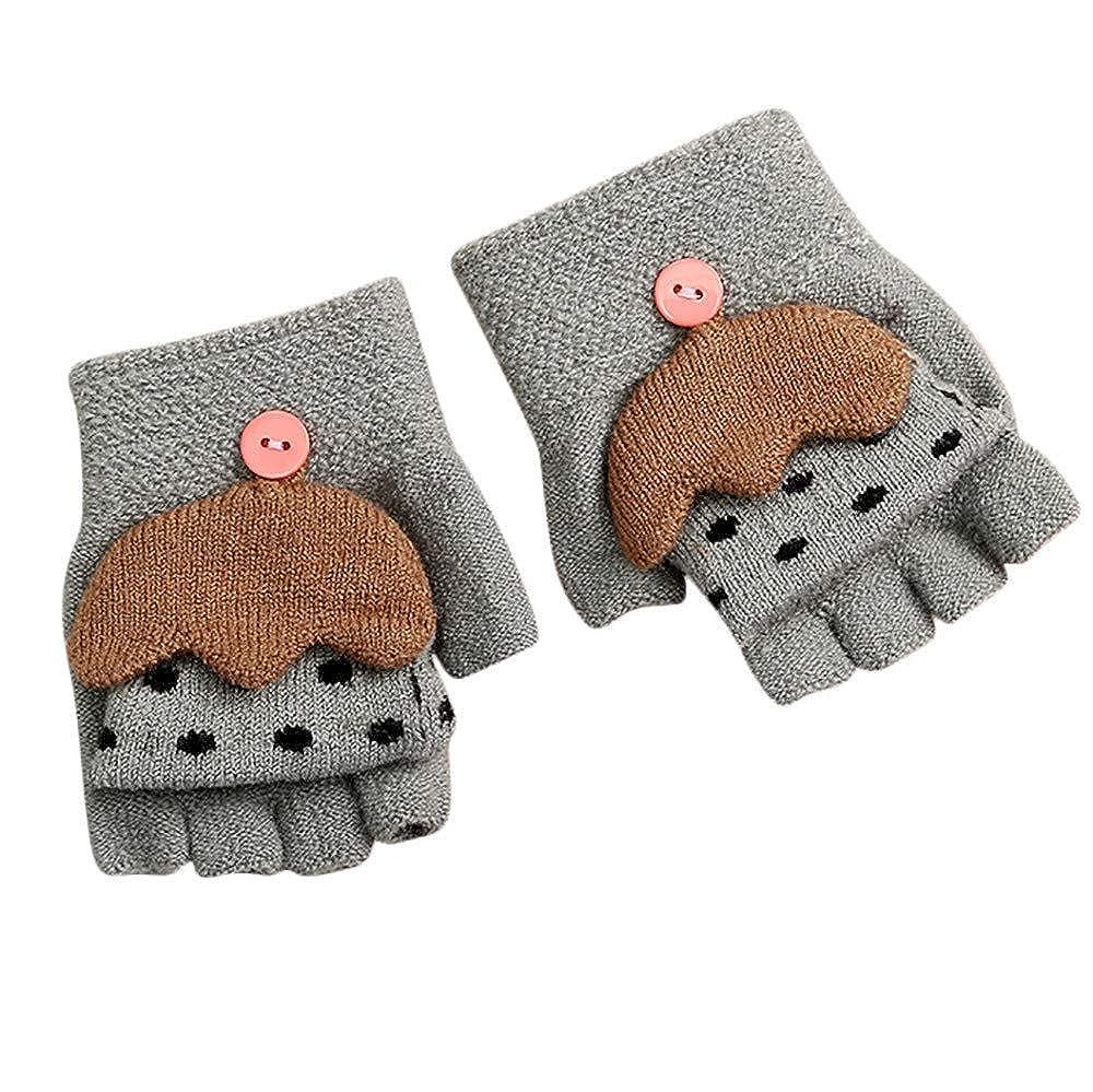 Little Kids Winter Warm Gloves,Colorful(TM) Children Girls Boys Winter Cartoon Umbrella Patchwork Keep Warm Mittens Gloves for 2-4 Years Old