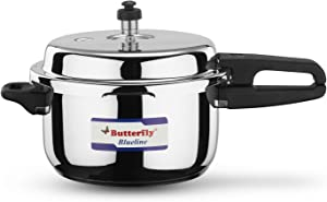 Butterfly BL-5L Blue Line Stainless Steel Pressure Cooker, 5-Liter