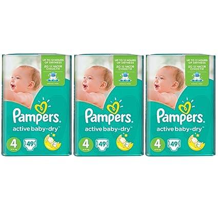 PAMPERS Active Baby Dry máxima de talla 4 8 – 14 Pañales monats Box (3