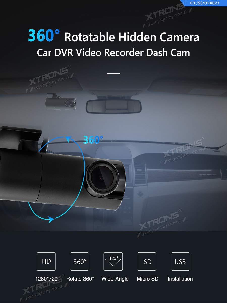 XTRONS 360/° Rotatable Lens Car DVR Wide-Angle USB Video Recorder Dash Camera Drive Recorder