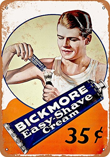 Wall-Color 9 x 12 METAL SIGN - 1930 Bickmore Easy Shave for sale  Delivered anywhere in USA