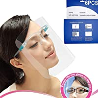 6 Pack All-Round Cap with Clear Wide Visor Spitting Anti-Fog Lens, Lightweight Transparent Shield with for Men Women
