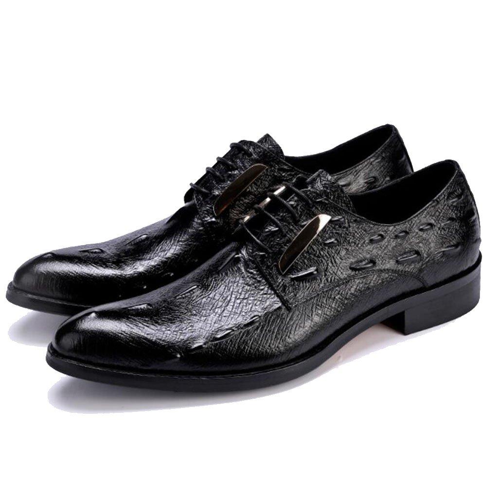 GAOLIXIA Herren Echtes Leder Spitz Derby Schuhe Formale Kleid Schuhe Geschäft Casual Schuhe Atmungsaktive Arbeit Büro Schuhe Hochzeitsbankett Abend
