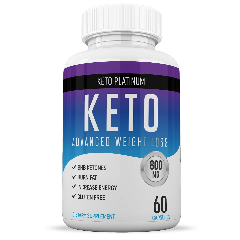 Keto Pills - Ketogenic Fat Burner - for Women & Men - Promotes Healthy Energy Levels - Burn Belly Fat Fast - Carb Blocker - Keto Platinum - 60 Capsules