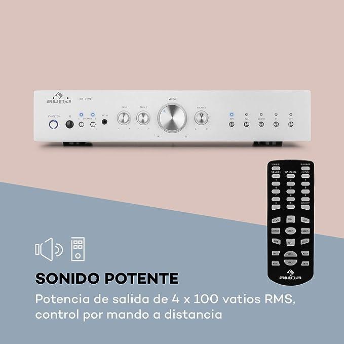 AUNA AV2-CD608BT amplificador estéreo Hifi: Amazon.es ...