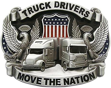 New Vintage Enamel Nation Road Truck Driver Belt Buckle also Stock in US