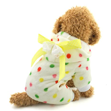 Buy Smalllee Lucky Store Small Dog Pajamas Four Leg Colorful Dots