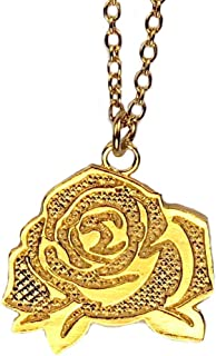 """product image for Gold-Dipped""""Mighty Rose"""" Necklace Filled-In on Rolo Chain"""
