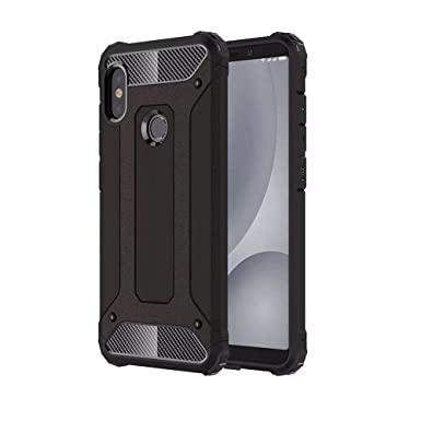 online retailer 0db00 93b16 TenYll Xiaomi Mi A2 (Mi 6X) Case, Full-body Rugged Case TPU +  PC,durable,Four corners thickened,Suitable for Xiaomi Mi A2 (Mi 6X) -Black