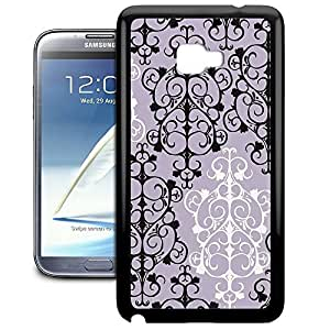 Bumper Phone Case For Samsung Galaxy Note 2 - Black & White Damask TPU Premium wangjiang maoyi