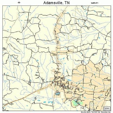 Amazon.com: Large Street & Road Map of Adamsville, Tennessee TN ...