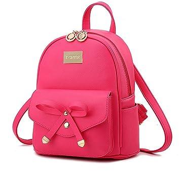 Amazon.com: Linda mini mochila de piel moda pequeñas ...