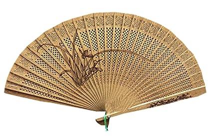 Amazoncom Panda Superstore Wooden Folding Fan Hand Held Fan