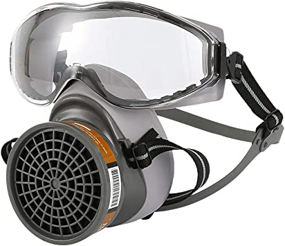 Gas Química Industrial Anti-Polvo Pintura por Pulverización doble Respirador Máscara con Gafas