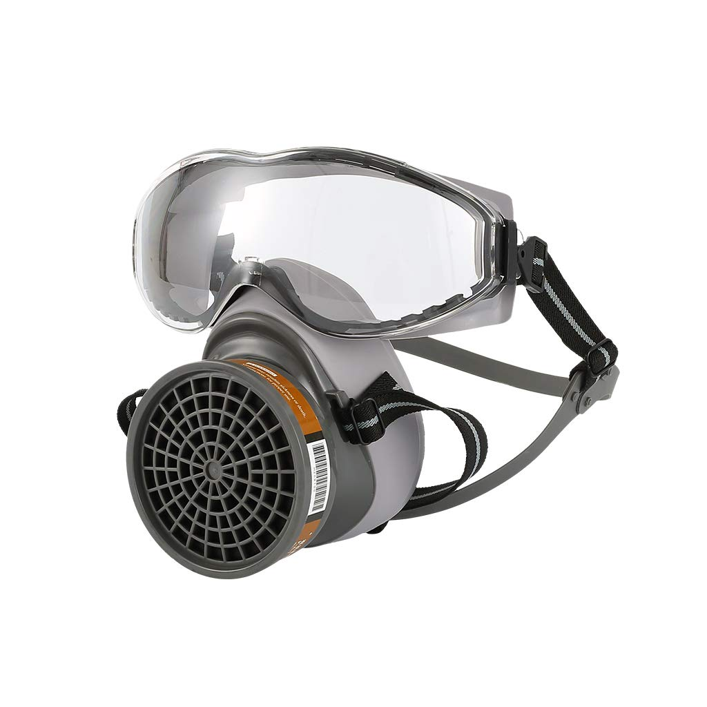 1Set Half ḟɑcѐ Gas ṁɑѕḱ with Goggles Chemical Dust ṁɑѕḱ ḟilṫѐ ḃṙѐɑṫḣiṇg Respirators for Painting Spray Welding Industrial Accessories