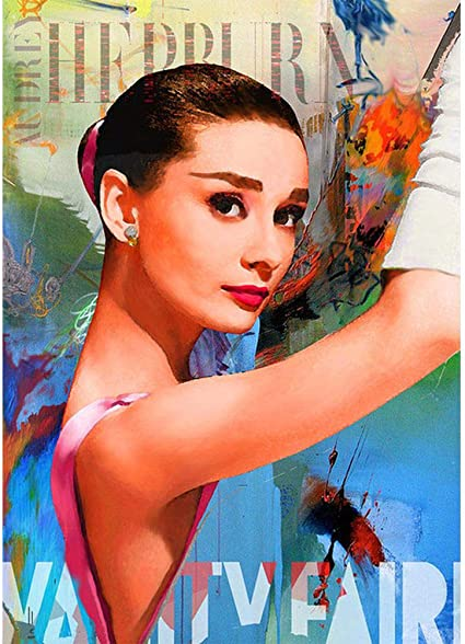 Audrey Hepburn Art Full Drill 5D Diamond Painting Embroidery Cross Crafts Kits
