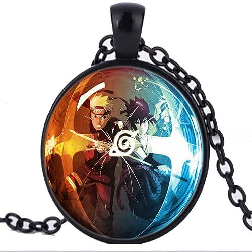 Classic Anime Naruto cúpula de cristal collar cadena joyería ...