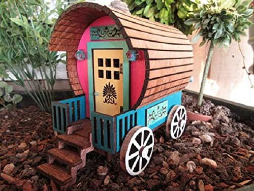 Amazon.com: Fairy Garden Wagon Gypsy Caravan Miniature