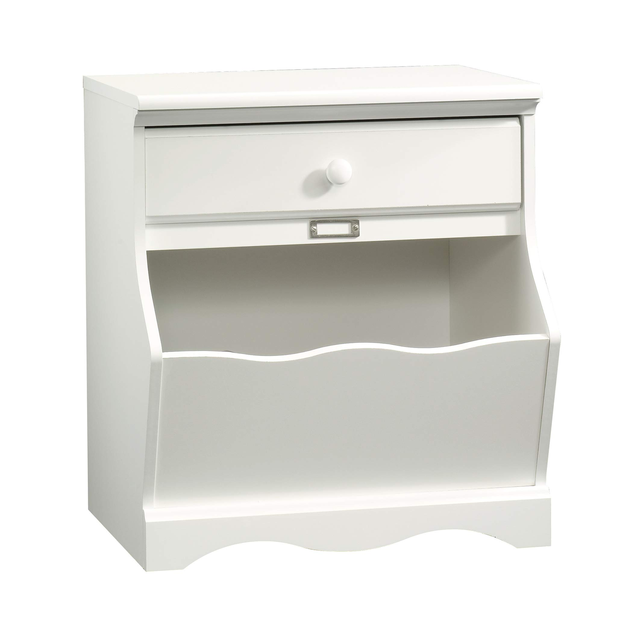 Sauder 414433 Pogo Night Stand,  23.47 L x 18.29 W x 25.98 H, Soft White finish