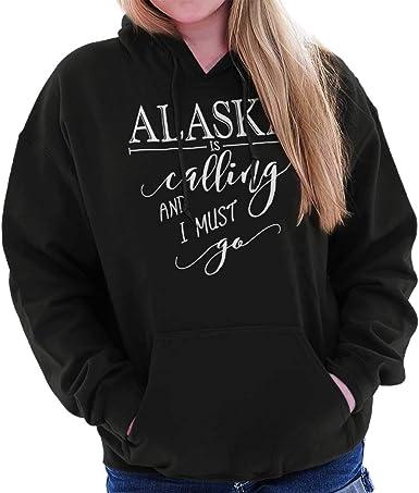 Alaska is Calling I Must Go Home State City Cool  Crewneck Sweatshirt
